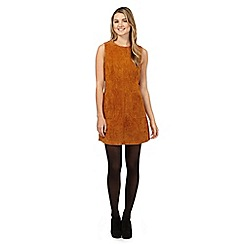 Red Herring - Tan sleeveless suede dress