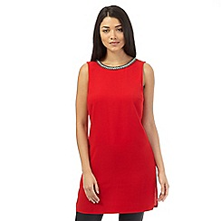Red Herring - Red jewel embellished tunic