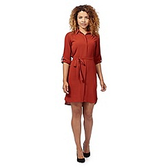 Red Herring - Terracotta shirt dress