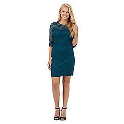 Red Herring - Turquoise lace dress