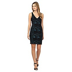 Red Herring - Blue sparkle bodycon dress