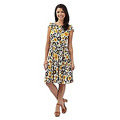 Red Herring - Yellow floral prom dress