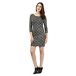 Red Herring - Silver geometric dress