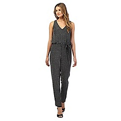 Red Herring - Silver sparkle drawstring jumpsuit