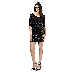Red Herring - Black sequin bodycon dress