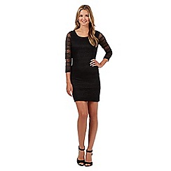 Red Herring - Black lace mini dress