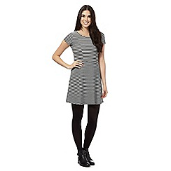 Red Herring - Black striped skater dress