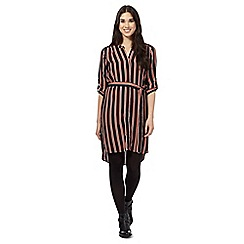 Red Herring - Black striped shirt dress