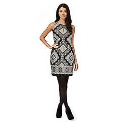 Red Herring - Black diamond print dress