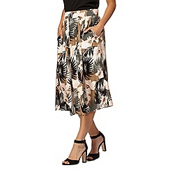 Red Herring - Light pink jungle print skirt