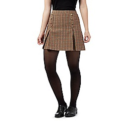 Red Herring - Brown check mini skirt