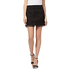 Red Herring - Black fringed skirt