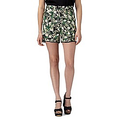 Red Herring - Green tropical print shorts