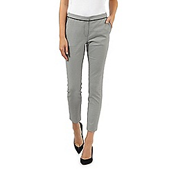 Red Herring - Black dogtooth slim fit cropped trousers