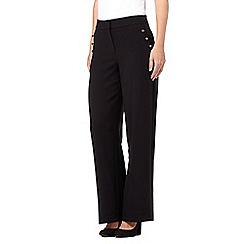 Red Herring - Black wide leg sailor trousers