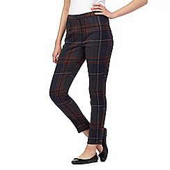 Red Herring - Navy multi checked slim trousers
