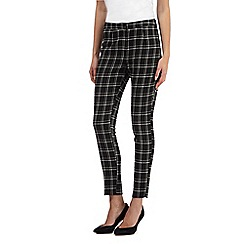 Red Herring - Black double checked cropped trousers