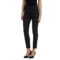 Red Herring - Black checked cropped trousers