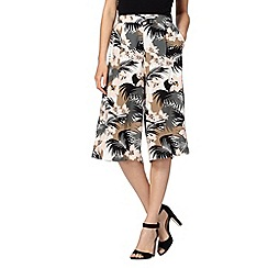 Red Herring - Black jungle print culottes