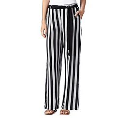 Red Herring - Black striped belted trousers