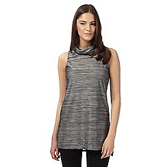 Red Herring - Grey stripe roll neck tunic top