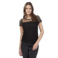 Red Herring - Black lace top