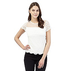 Red Herring - White lace top