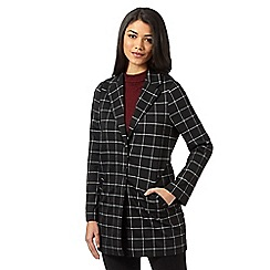 Red Herring - Black checked duster jacket