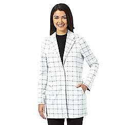 Red Herring - White checked duster jacket