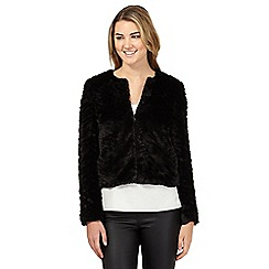 Red Herring - Black faux fur jacket