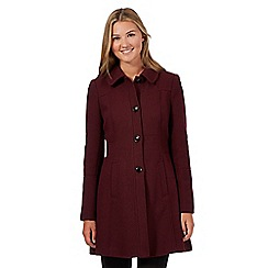 Red Herring - Dark red textured dolly coat