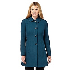 Red Herring - Dark turquoise textured dolly coat