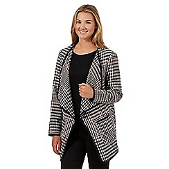 Red Herring - Black houndstooth blanket coat