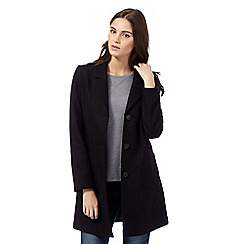 Red Herring - Navy lapel wool blend coat