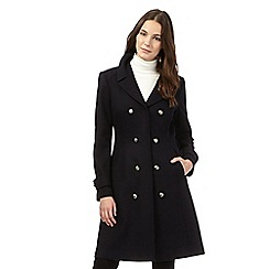 Red Herring - Navy wool blend military coat