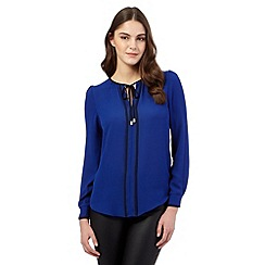 Red Herring - Blue contrast blouse