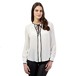 Red Herring - Ivory contrast blouse