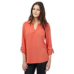 Red Herring - Coral ring blouse