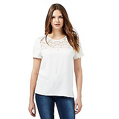 Red Herring - Ivory daisy lace yoke top