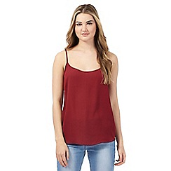 Red Herring - Dark red plain cami