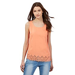 Red Herring - Peach cutout hem vest top