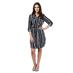 Red Herring - Navy striped shirt dress
