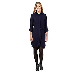 Red Herring - Navy crepe shirt dress