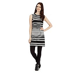 Red Herring - Black striped pique dress