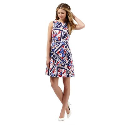 Red Herring Pink floral print prom dress - . -