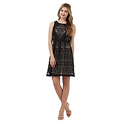 Red Herring - Black tribal lace dress