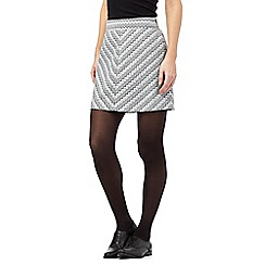 Red Herring - Grey zig zag skirt