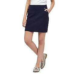 Red Herring - Navy textured sailor skirt