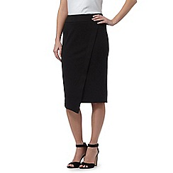 Red Herring - Black asymmetric knee length skirt