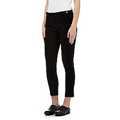 Red Herring - Black textured cropped formal trouser